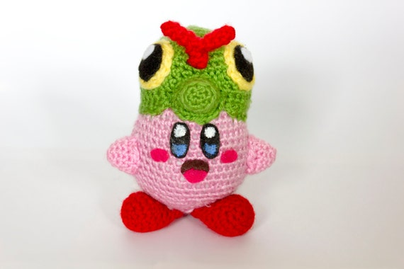 Crochet Patterns Amigurumi Monkey : Crochet Caterpie Kirby Amigurumi Caterby Made to order