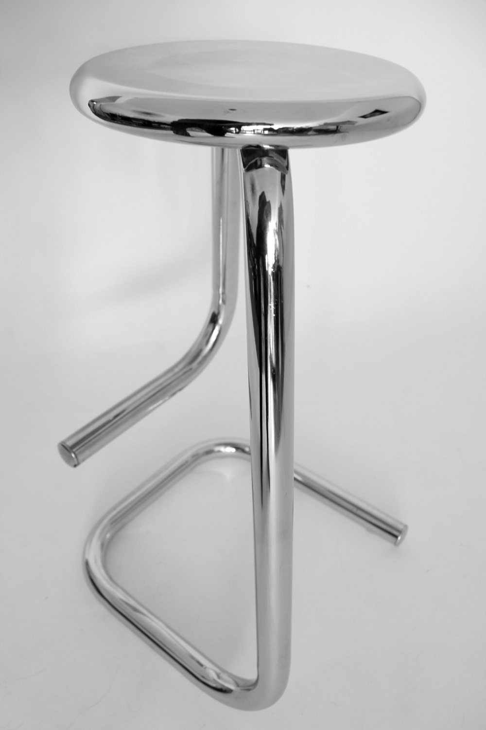 Tubular Chrome Bar Stool From Kinetics K700 Vintage Mid