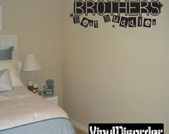 Brothers best buddies - Vinyl Wall Decal - Wall Quotes - Vinyl Sticker - Ct057Brothersvii8ET