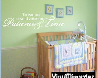 The two most powerful warriors are patience and time - Vinyl Wall Decal - Wall Quotes - Vinyl Sticker - In013Thetwoiii7ET