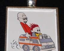 Breaking Bad Mr. Walter White Jesse Pinkman Super Science Calvin Hobbes Silver Pendant Necklace Jewelry