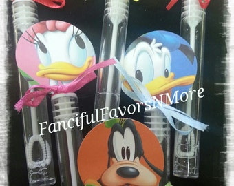 12 Mickey Mouse Clubhouse Party Favor Bubbles