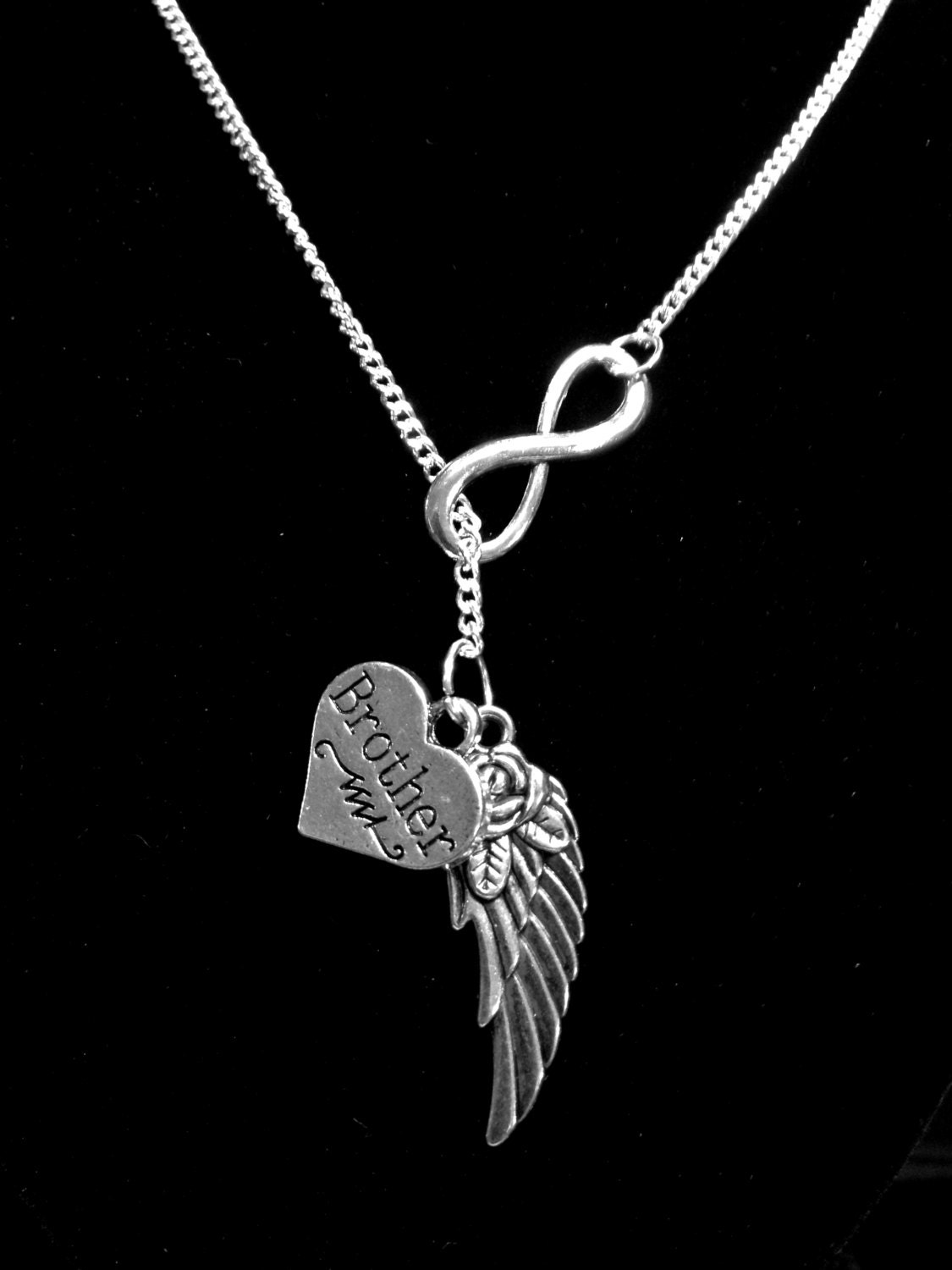 Infinity Guardian Angel Wing Brother In Heaven Memory Y Lariat