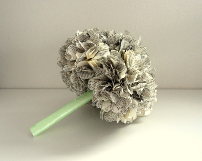 Book Page Bouquet for a Vintage Wedding | Wedding Bouquet | Paper Wedding Bouquet for a Bride's Bouquet