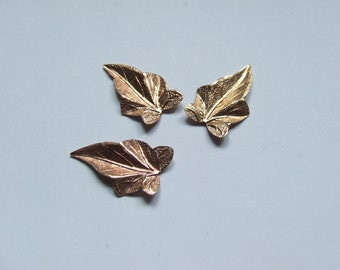 Vintage Jewellery Leaf Findings, Original 1930's Quality Items, Beautiful Style X 14