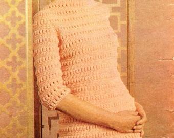 Vintage Crochet Women's/Ladies Dress pattern.
