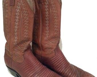 Lizard Skin Boots Etsy