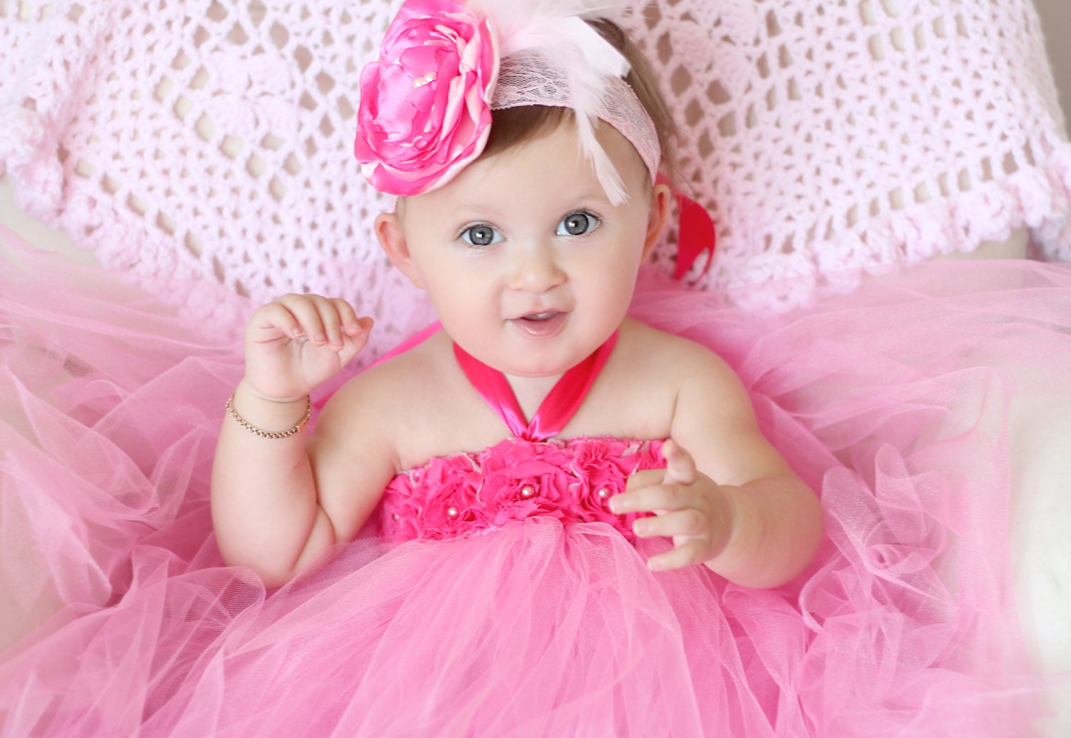 Beautiful Babies With Flowers The Image