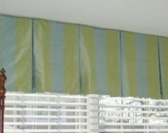 Box Pleat Valance-made to order (your fabric,my lining)