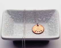 "The Beatles Penny ""Lane"" - Penny Necklace - Stamped Jewelry - Unique Holiday Gifts for Her - Stocking Stuffers for Women"
