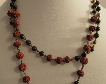 2856 - Necklace,  Wood Beads and Meditation