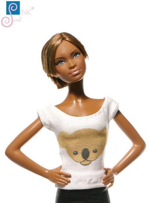 handmade clothes for barbie t shirt koala. Black Bedroom Furniture Sets. Home Design Ideas
