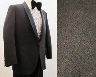 Vintage 1960s Dinner Jacket Men's Vintage Tux Tuxedo Formal Red 40 Short