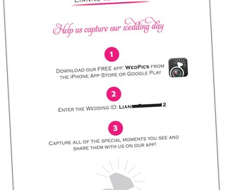 Wedding App Sign {Digital File}