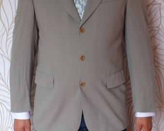 Vintage Men's Blazer Hugo Boss Size 52 Model POSEIDON / AKROPOLIS 100% Virgin Wool Sport Coat Suit Jacket Free Shipping