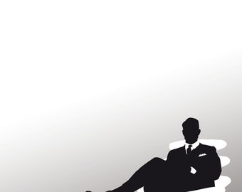 TV Art Print - Digital Collage - Illustration Mad Men - TV -  Art - Print Poster - Wall Decor - Photography