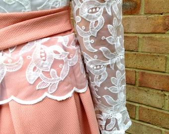 SALE RACHEL organza high neck bow tie back dress