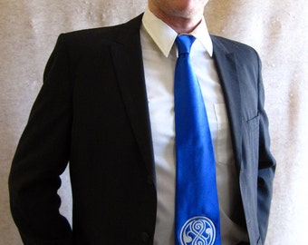 Seal of Rassilon silk necktie