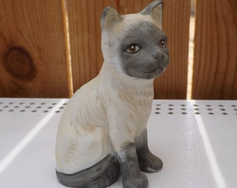 Cat Bell - White cat with gray face -  L 423