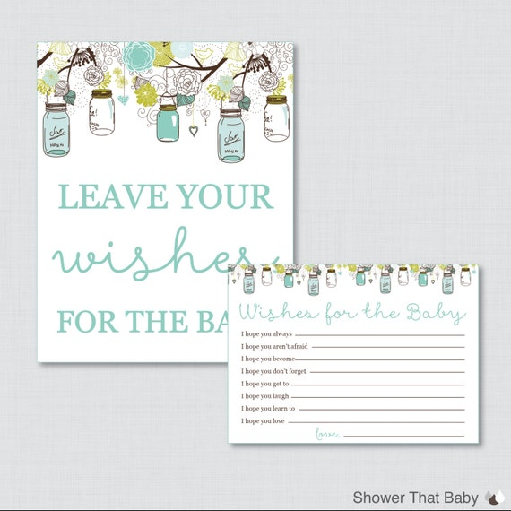 Wishes For Baby Baby Shower Activity Printable Well Wishes For