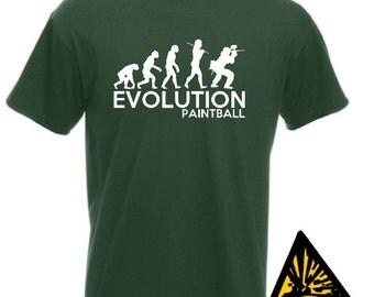 Evolution Of Man From Ape To Paintball T-Shirt Joke Funny Tee T Shirt Tshirt Paint Ball Paintballer Paintballer