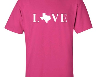Funny t-shirt - Custom t-shirt - Love Texas
