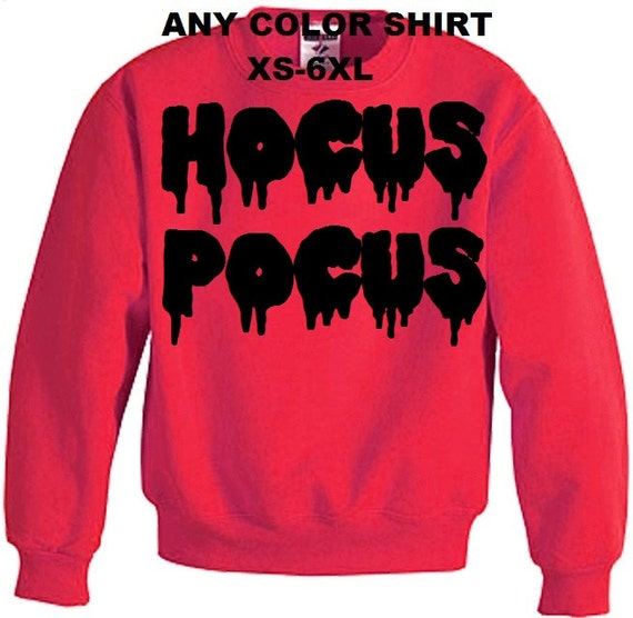 Free shipping new hocus pocus magic halloween by favoredcrush for Plus size hocus pocus shirt
