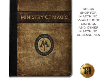 Ministry of magic grunge book cover handbook protective tablet case (ipad 2 3 4, air, mini, Kindle Fire, paperwhite)