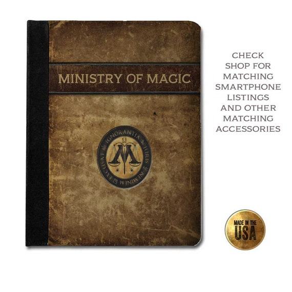 Harry Potter Book Kindle Case ~ Harry potter inspired ministry of magic grunge book cover