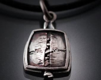 "Sterling Silver Pendant | silver pendant | sterling pendant | sterling silver necklace | Fashion jewelry necklace | ""Reveal"" Pendant"