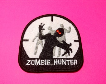 Iron on Sew on Patch:  Zombie Hunter