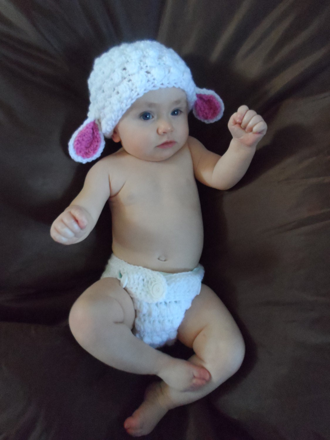 6 Month Old Baby Gifts Uk : Handmade crocheted fluffy easter lamb baby costume
