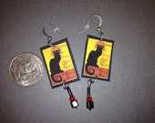 SALE Chat Noir Earrings