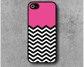 IPhone 5 / 5s Case Zig Zag Chevron Pink  + Free Delivery Worldwide