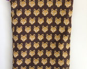 Mobile phone sleeve / pouch 'Brown Fox' (any phone size e.g. iPhone 4/5/6)
