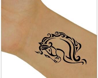 Temporary Tattoo 2 Horse Wrist Tattoos