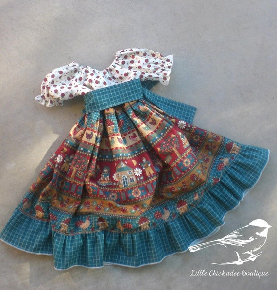 Size 5 Girls Fall Dress  Girls dress Fall dress Twirly dress Autumn dress Peasant dress