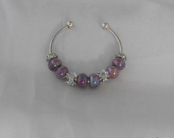 Iridescent Cuff Bracelet - European Style - Silver Bracelet (BD-559)
