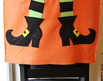 WIcked Witch Halloween Chair Cover