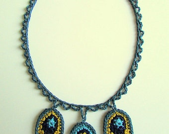 PDF Crochet Pattern for 'Ever Increasing Circles' Necklace