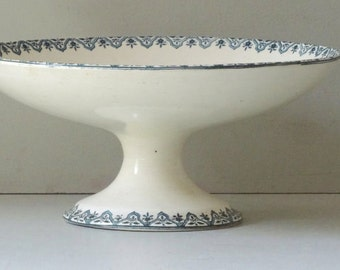 French Antique Compote Dish Salins