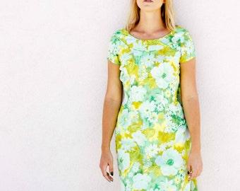 Vintage Garden Party Floor Length Dress
