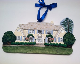 Custom House Christmas Ornament/ Unique Gift Idea/ Personalized Home Ornament
