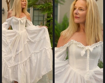 Most Spectacular Vintage 1980's Laura Ashley Wedding Dress