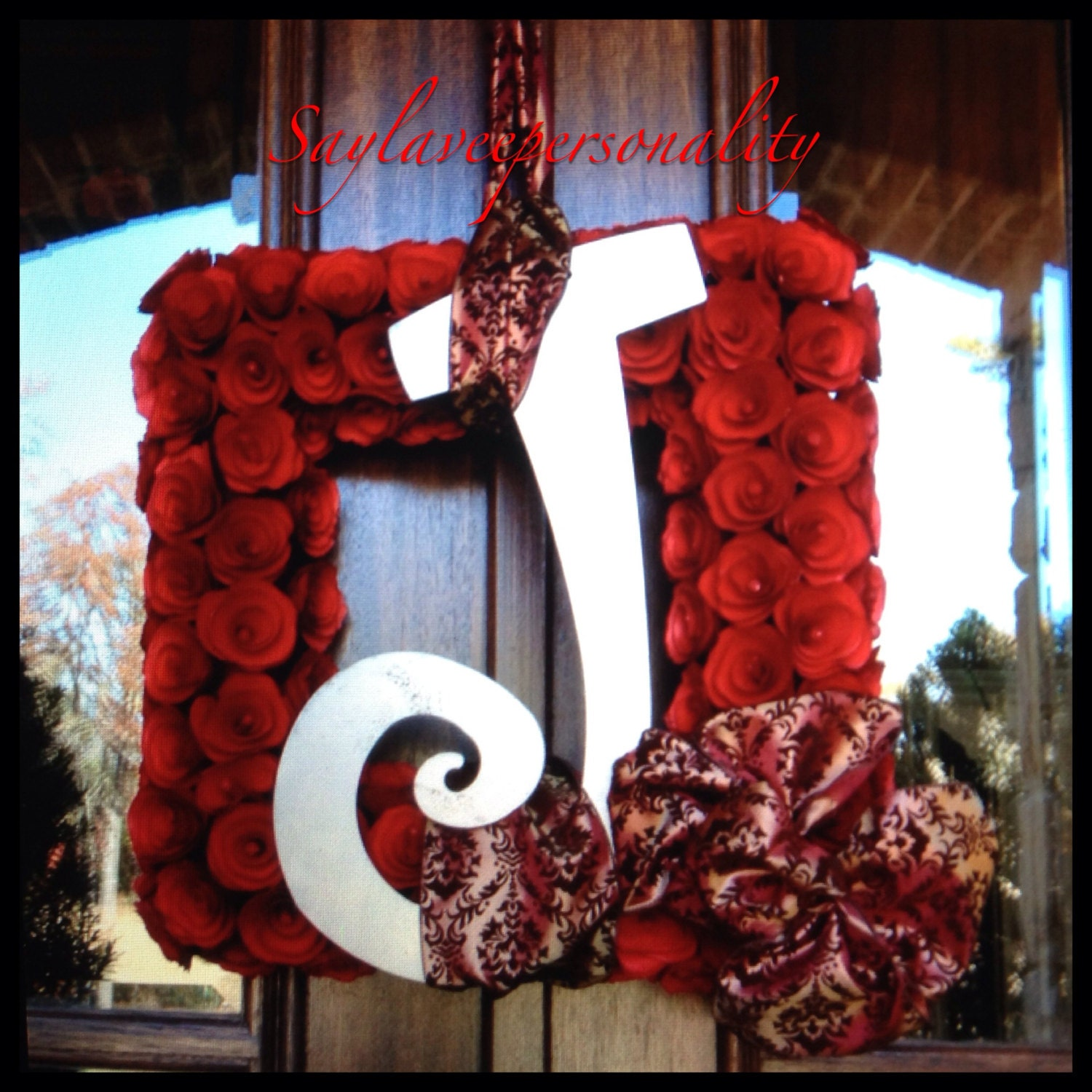 Sale 50 Off 20 Inch Square Wood Curl Wreath Personalized