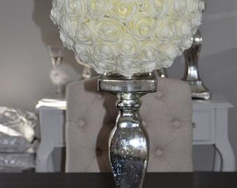 "Elegant 14"" Wedding foam flower/Approx 110 real touch roses/ Flower ball WEDDING CENTERPIECE, wedding pomanders kissing balls"