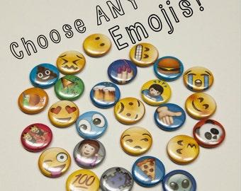 "Choose Any Emoji 1""  Pinback Buttons"
