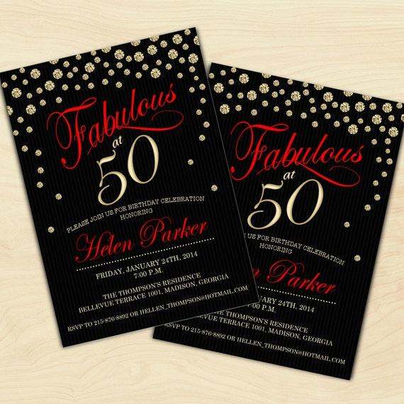 50th Birthday Invitation / 30th / 40th / 60th / 70th / 80th