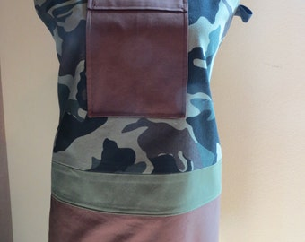Camouflage Green and Brown Apron