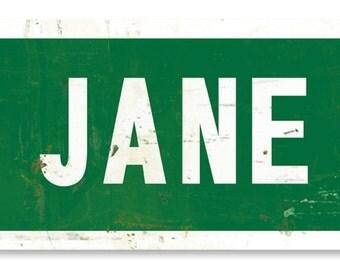 """Mary Jane Lane USA, New York, New York City, Florida, Texas Metal Sign 28""""x6"""""""